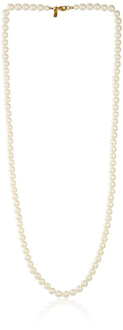 1928 Jewelry - Gold-Tone Simulated Pearl Strand Necklace