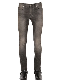Saint Laurent   - Skinny Fit Stretch Denim Jeans