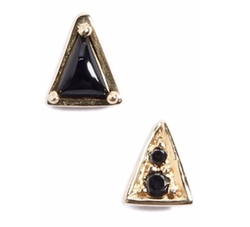 Mociun  - Mismatch Triangle Stud Earrings