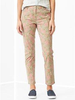Gap - Skinny Mini Floral Khakis