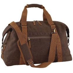 Bag Base - Vintage Canvas Weekender Holdall Carry Bag
