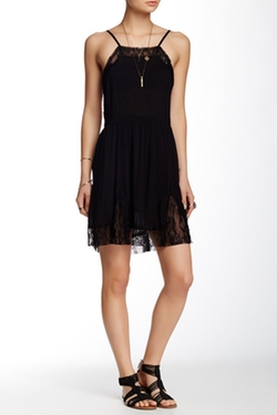Free People - Lace Inset Swing Dress