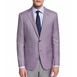 Ermenegildo Zegna  - Micro-Check Two-Button Jacket