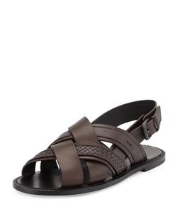 Bottega Veneta - Crisscross Woven Sandal