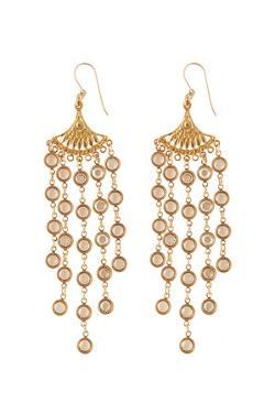 Wet Seal - Geometric Fringe Earrings