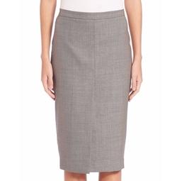 Max Mara - Nestore Wool Blend Pencil Skirt