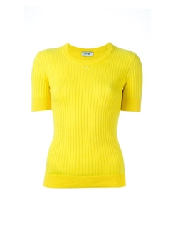 Courrèges - Ribbed Fitted T-Shirt