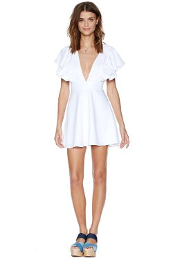 Nasty Gal - Ruffle Your Feathers Dress