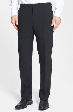 Santorelli  - Flat Front Travel Trousers