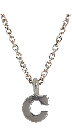 Sonya Renee Jewelry  - Silver Initial C Pendant Necklace