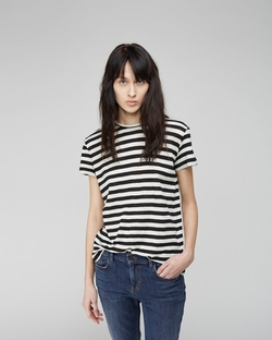 Proenza Schouler  - Striped Tissue Tee