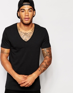 Asos - Muscle Fit V Neck T-Shirt