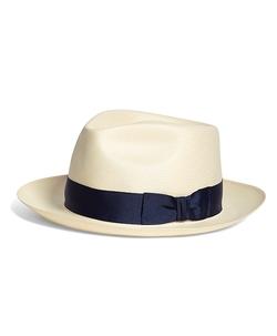 Brooks Brothers - Straw Fedora Hat