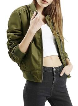 Azbro  - Side Zip Outwear Flying Bomber Jacket