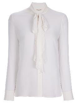 SAINT LAURENT  - pussy bow blouse