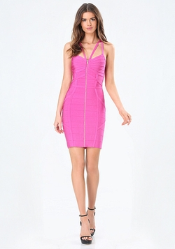 Bebe - Sophia Zip Bandage Dress