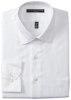 Geoffrey Beene  - Fitted Sateen Dress Shirt
