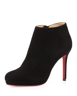 Christian Louboutin	 - Bella Suede Red Sole Ankle Boot