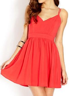 Choies - Red Speghetti Strap Sundress