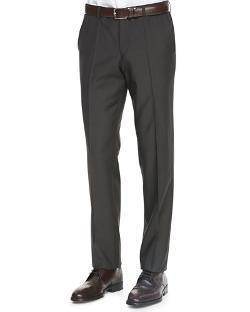 Hugo Boss  - Wool Flat-Front Pants