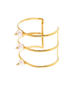 Nektar De Stagni - Pearl And Gold-Plated Cuff Bracelet