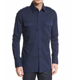 Tom Ford - Military-Style Washed Twill Sport Shirt