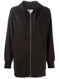 Mm6 Maison Margiela  - Zip-Up Drawstring Hoodie