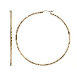 Amore By Simone I. Smith  - Textured Hoop Earrings