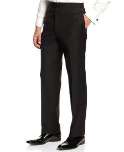 Ralph Lauren  - Tuxedo Black Flat Front Pants