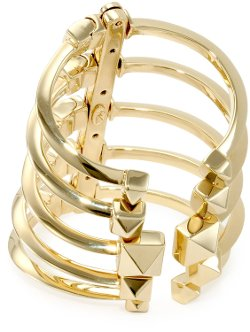 Giuseppe Zanotti - Gold Finish Adjustable Multi-Cuff Bangle