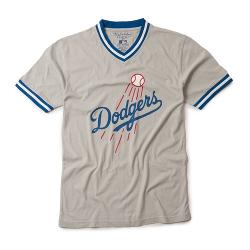 Wright & Ditson - Los Angeles Dodgers Wright and Ditson Eephus V Neck MLB T Shirt Jersey