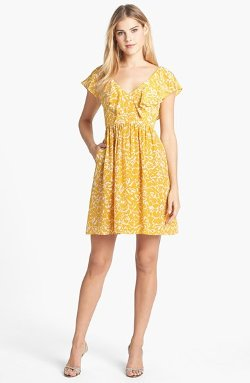 Jenny Yoo - Gigi Print Silk Fit & Flare Dress