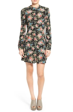 Mimi Chica - Floral Print Fit & Flare Dress