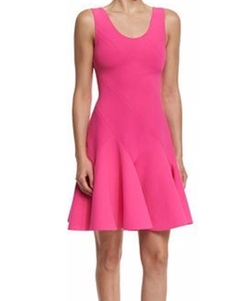 Derek Lam 10 Crosby - Sleeveless Fit-and-Flare Ponte Mini Dress