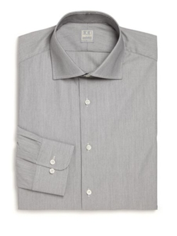 Eton of Sweden  - Slim-Fit Houndstooth Cotton Dress Shirt