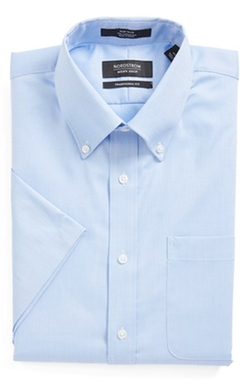 Nordstrom - Traditional Fit Non-Iron Short Sleeve Dress Shirt