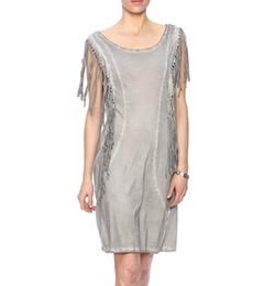 RD Style - Fringe Knit Dress
