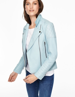 Boden - Cropped Quilted Biker