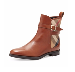 Burberry  - Richardson Leather & Check Booties