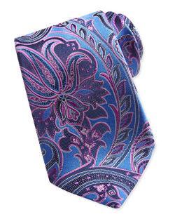 Ermenegildo Zegna  - Woven Paisley Silk Tie