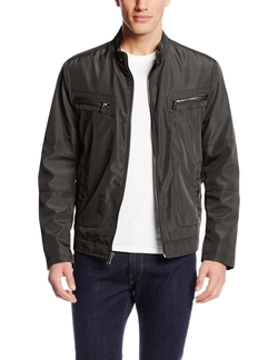 Kenneth Cole Reaction  -  Bonded Moto Jacket
