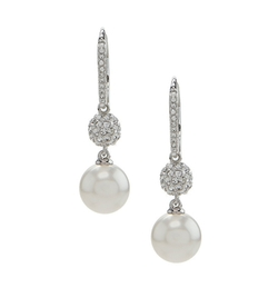 Nadri - Pave Pearl Drop Earrings