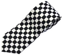 Chungun Inc  - Punk Checkeres Pattern Tie