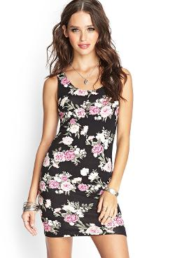 Forever21 - Crossback Floral Dress