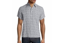 Billy Reid  - Tuscumbia Printed Short-Sleeve Shirt