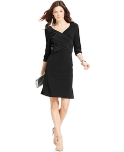 NY Collection  - B-Slim Three-Quarter-Sleeve Dress
