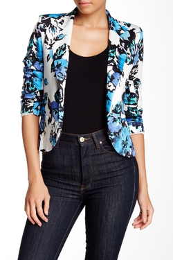 Necessary Objects - Print Notch Collar Jacket
