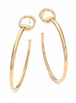 Gucci  - Horsebit Yellow Gold Hoop Earrings