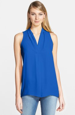 Vince Camuto  - Sleeveless V-Neck Blouse