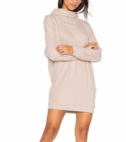 Michael Lauren - Vargus Draped Turtleneck Dress
